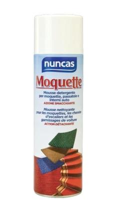 Mousse detergente per moquette, passatoie e interni auto – Nuncas