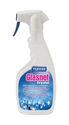Glasnet Crystal detergente per lampadari e oggetti in cristallo – Nuncas